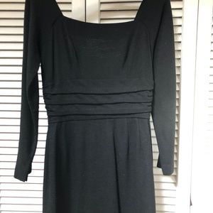 Dresses & Skirts - Vintage early 60s Black Wool Cocktail Dress